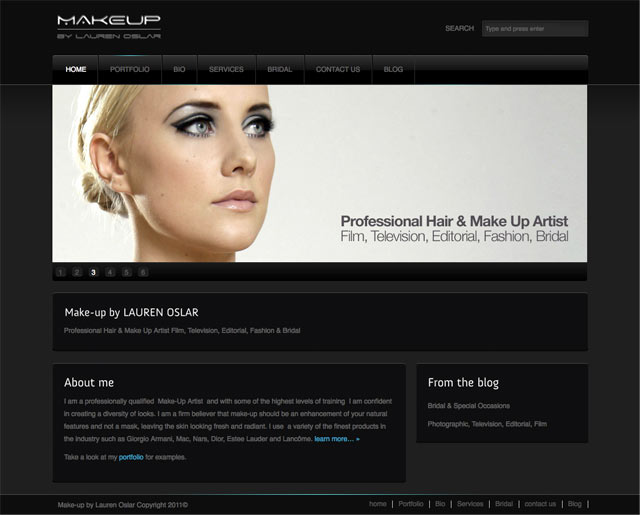 Makeup artist portfolio examples for The best artist websites